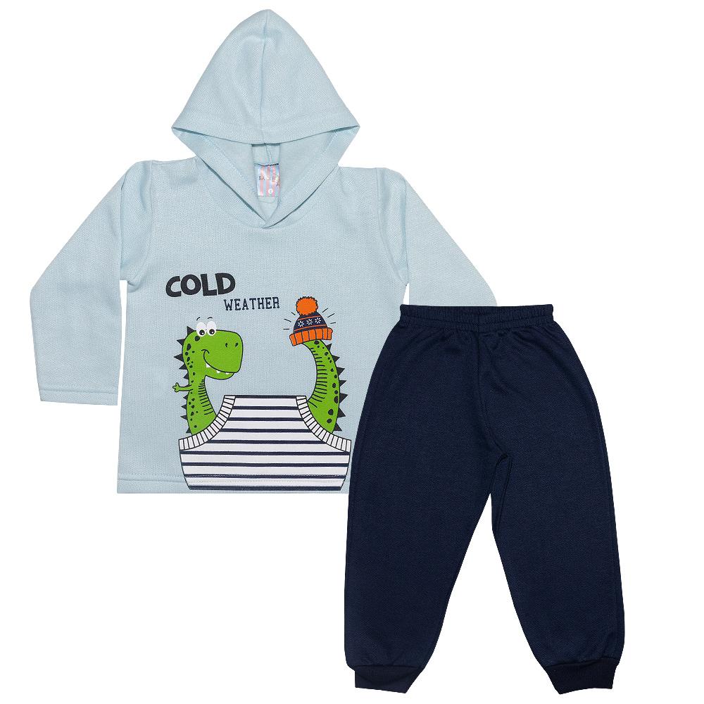 Conjunto Infantil Dino Azul  - Jeito Infantil