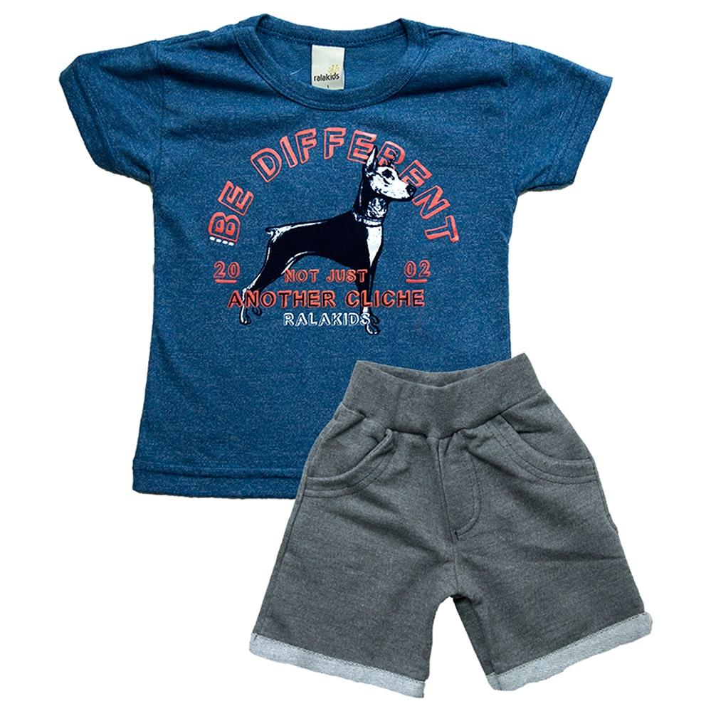 Conjunto Infantil Dog Azul  - Jeito Infantil