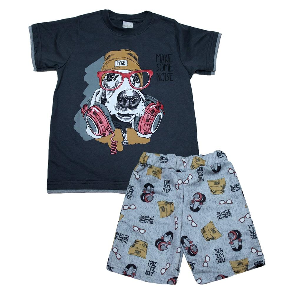 Conjunto Infantil Dog Chumbo  - Jeito Infantil