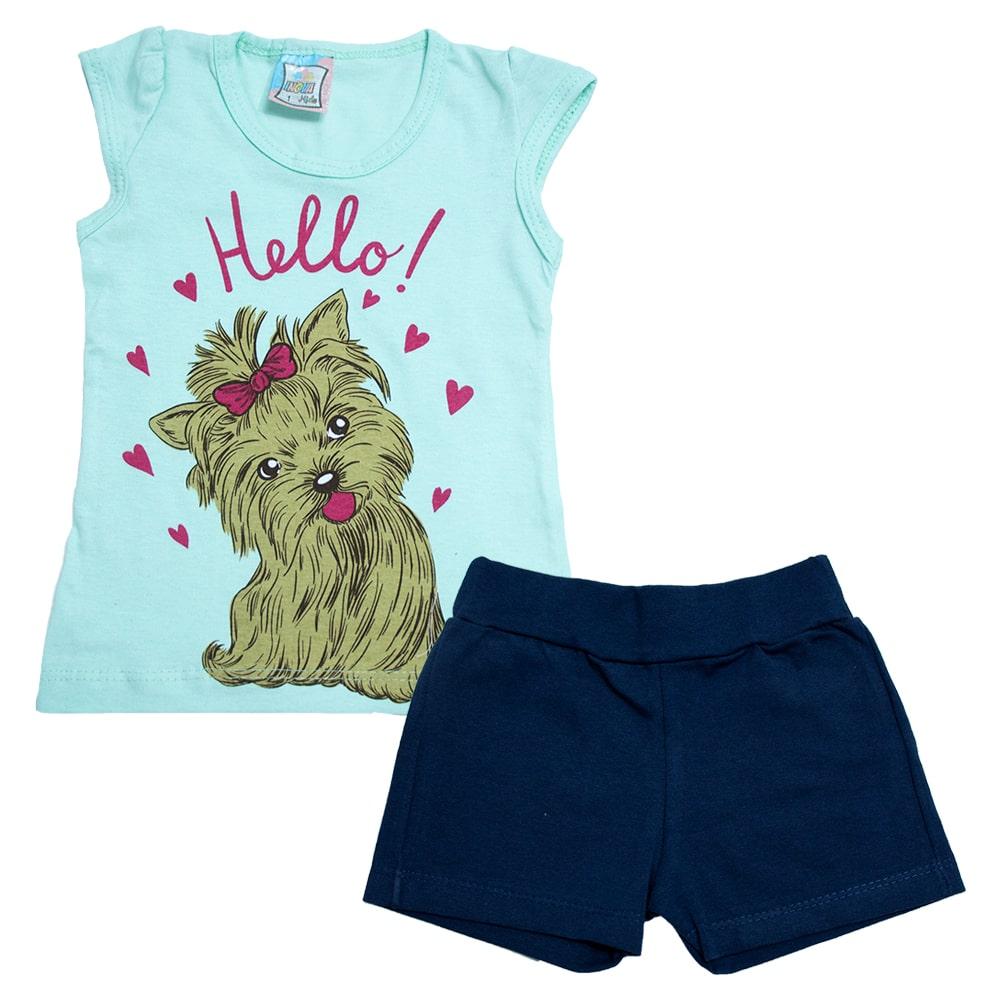 Conjunto Infantil Dog Verde  - Jeito Infantil