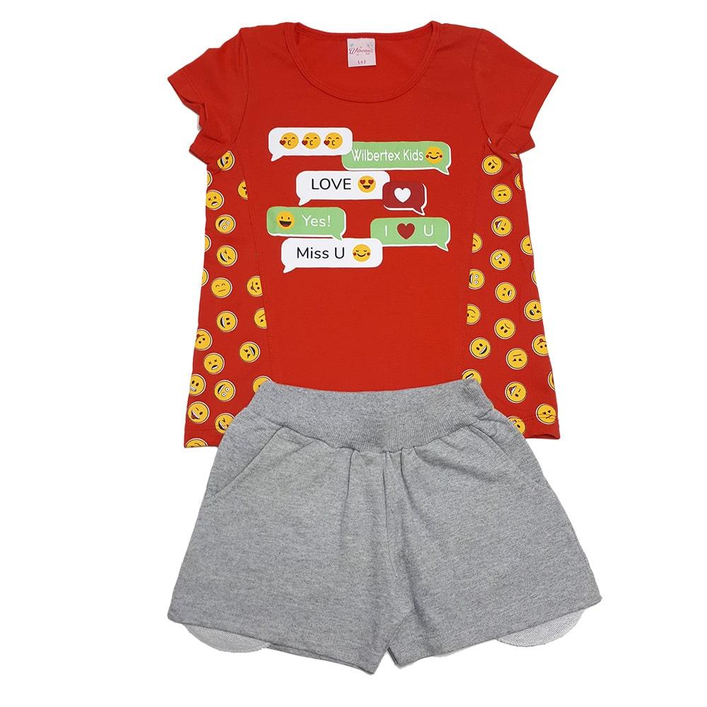 Conjunto Infantil Emoji Vermelho  - Jeito Infantil