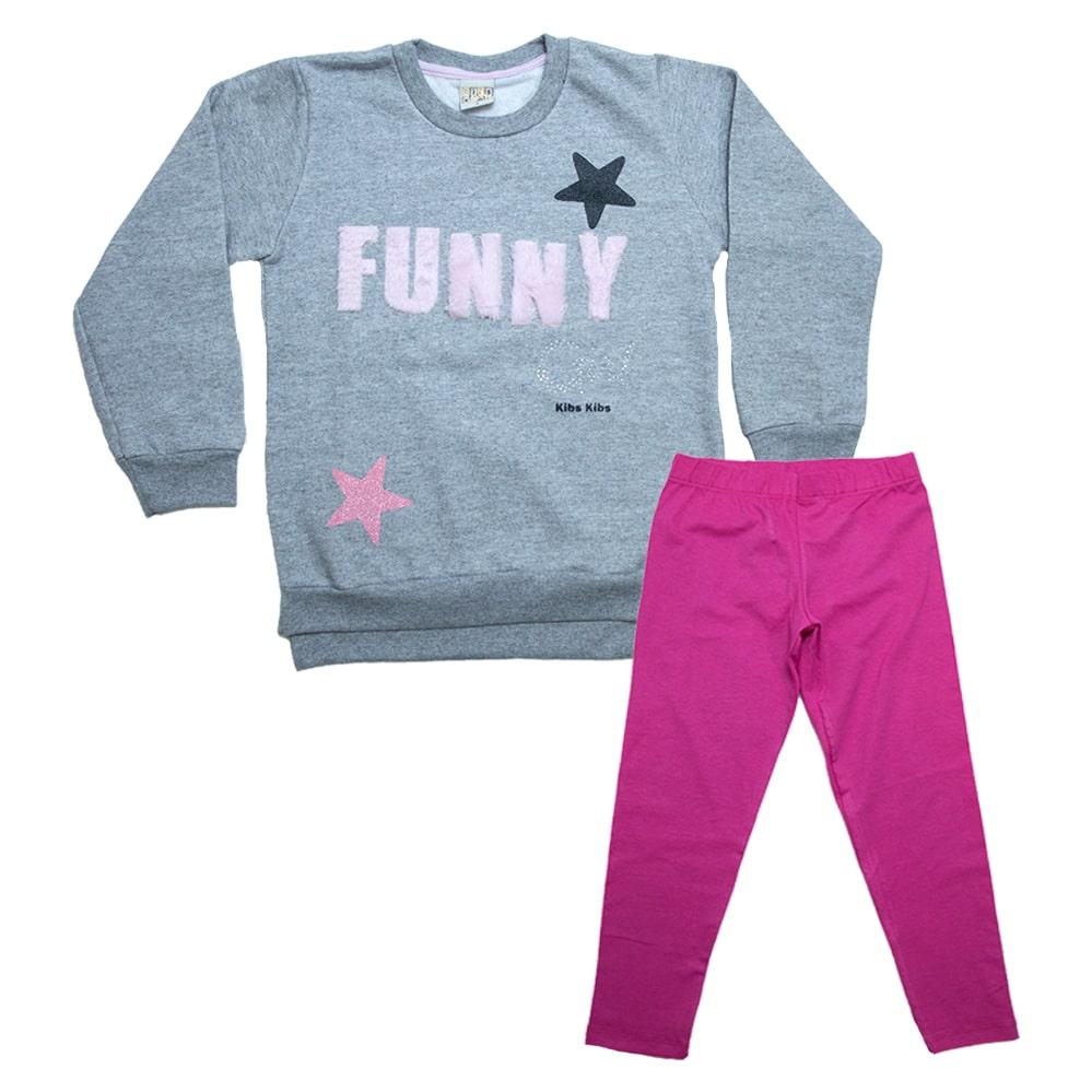 Conjunto Infantil Funny Mescla  - Jeito Infantil