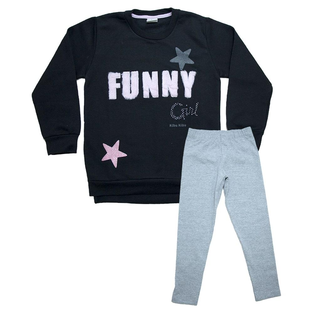 Conjunto Infantil Funny Preto  - Jeito Infantil
