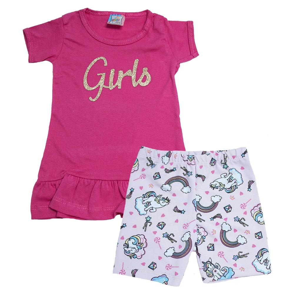 Conjunto Infantil Girls Pink  - Jeito Infantil