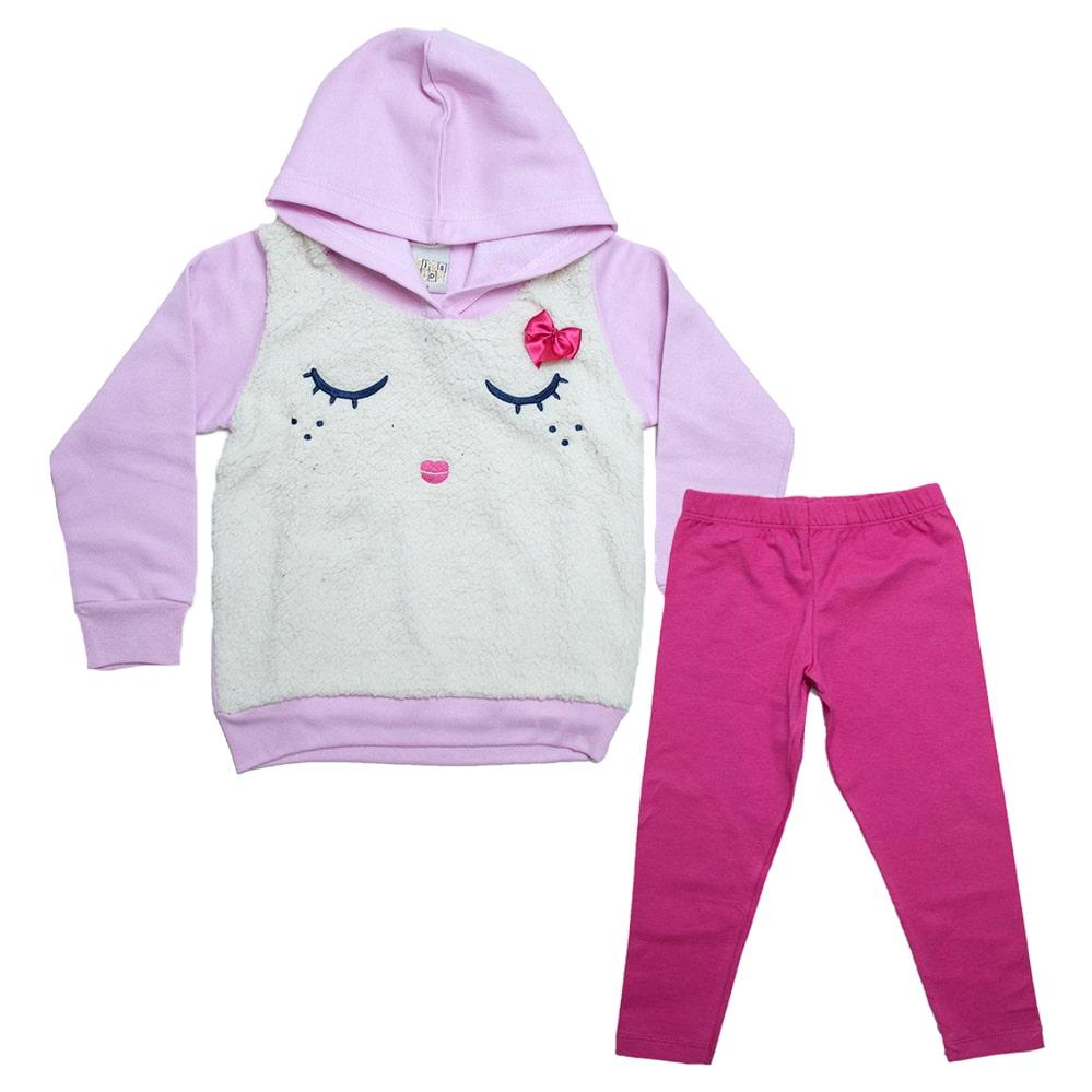 Conjunto Infantil Lacinho Rosa  - Jeito Infantil