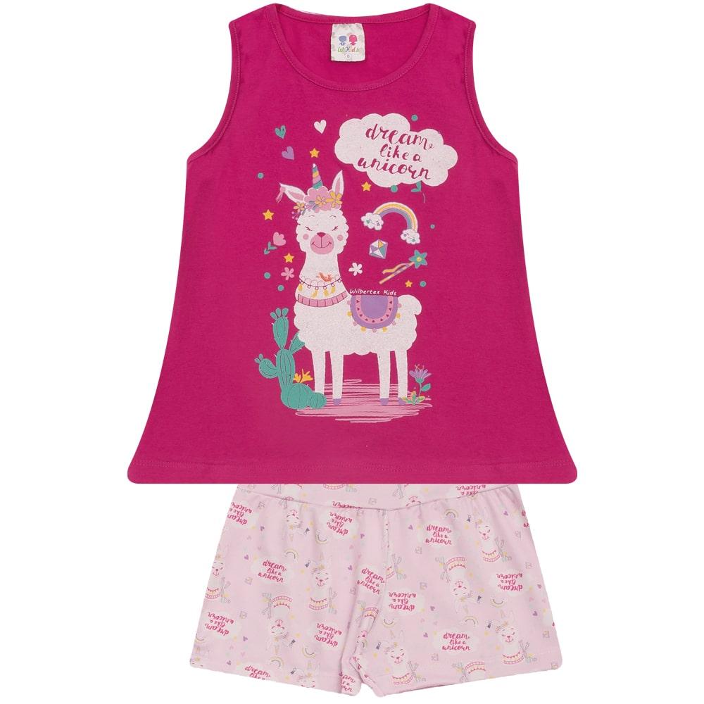 Conjunto Infantil Lhama Pink  - Jeito Infantil