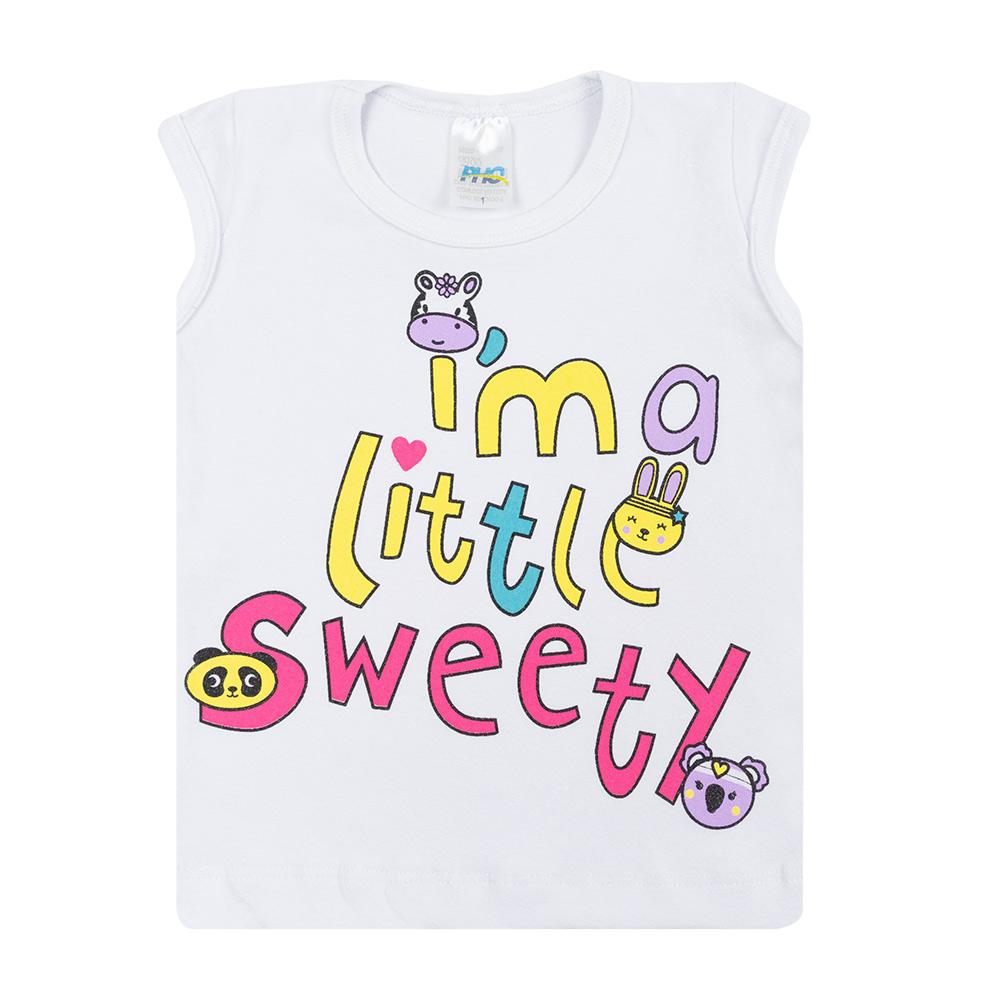 Conjunto Infantil Little Sweety Branco  - Jeito Infantil