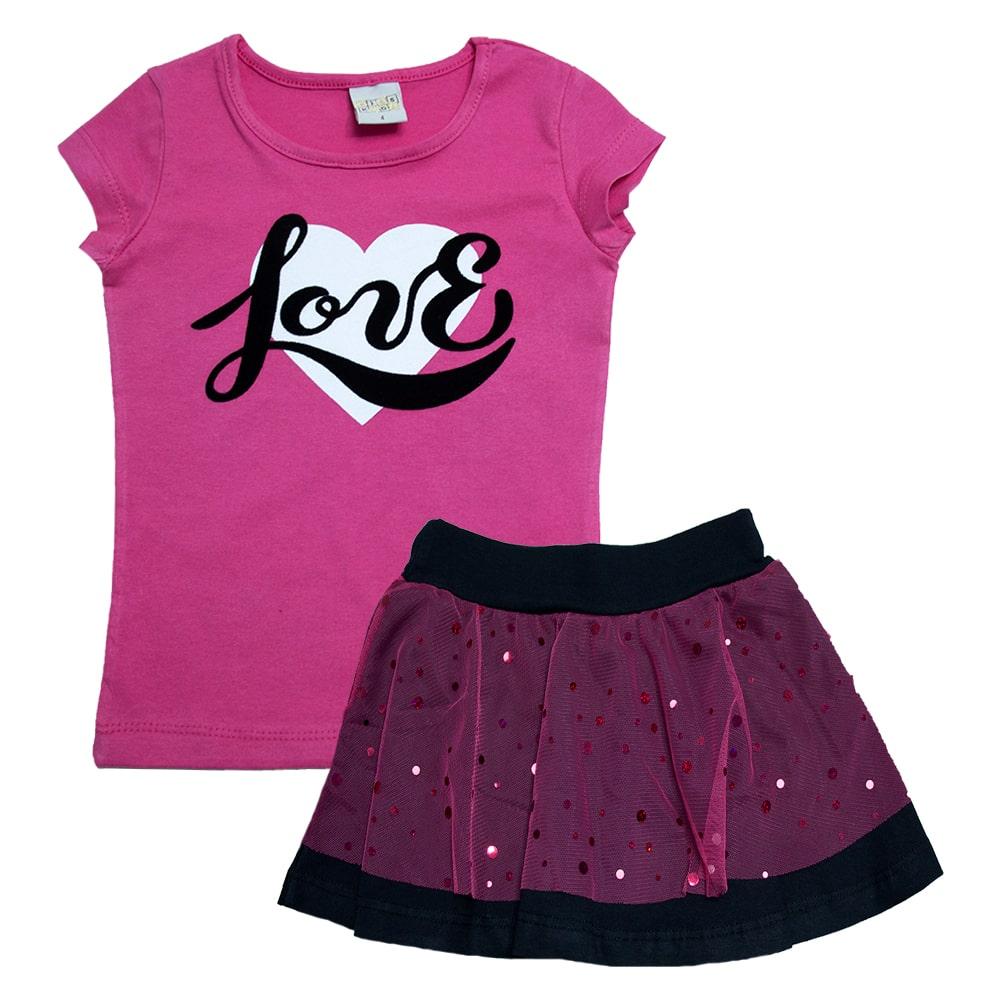Conjunto Infantil Love Pink  - Jeito Infantil