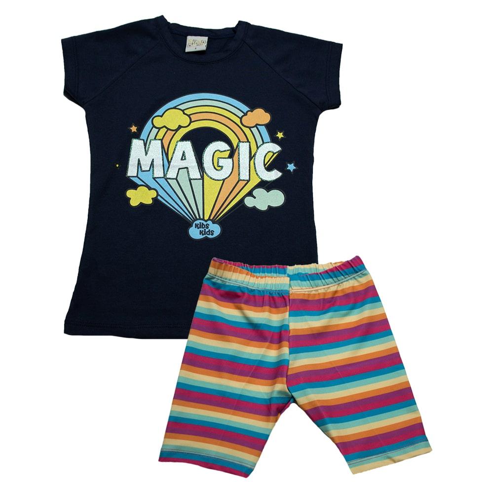 Conjunto Infantil Magic Marinho  - Jeito Infantil