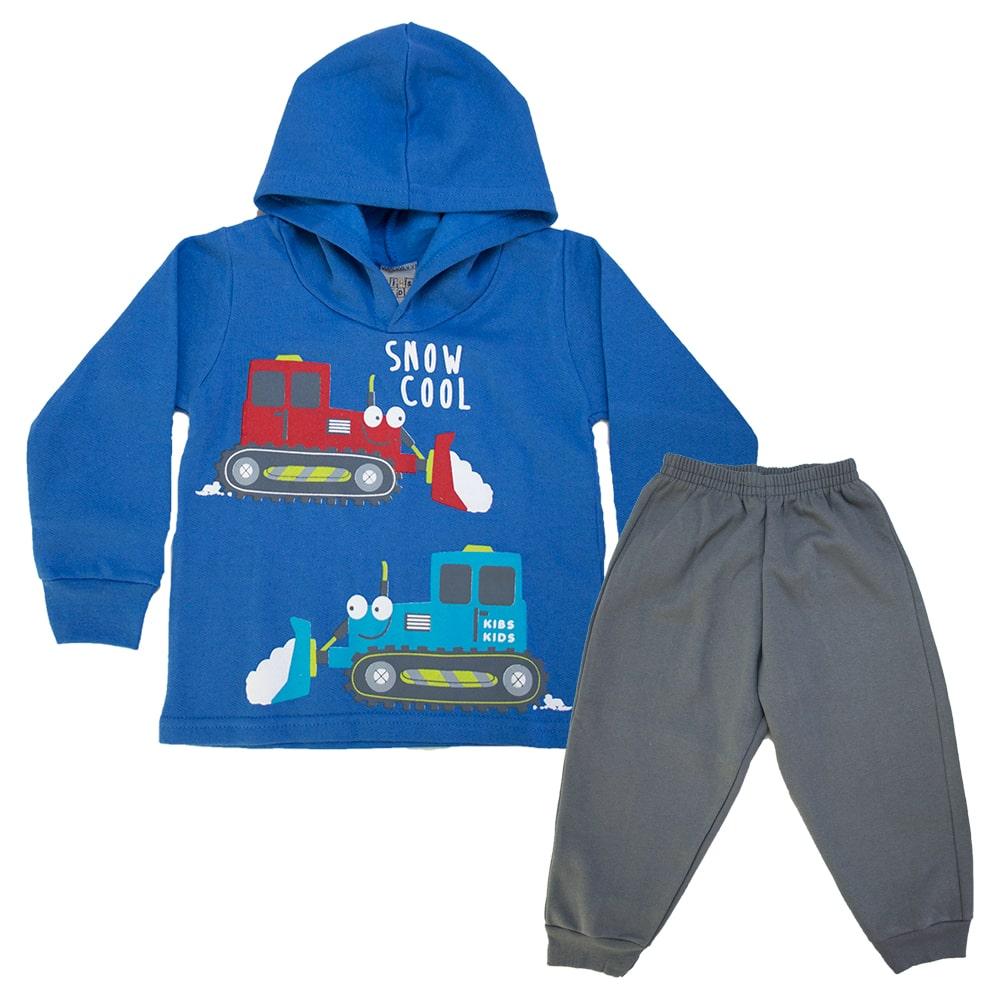Conjunto Infantil Máquinas Azul  - Jeito Infantil