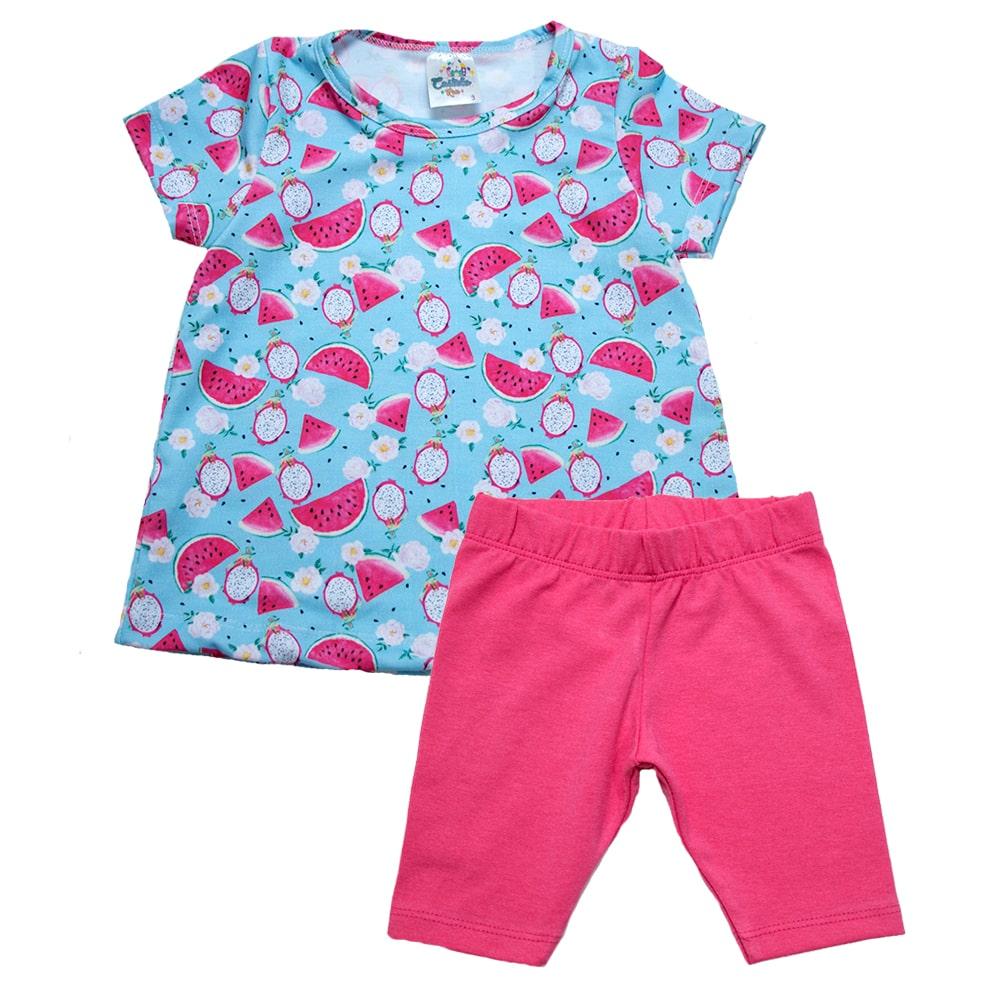 Conjunto Infantil Melancia Azul  - Jeito Infantil