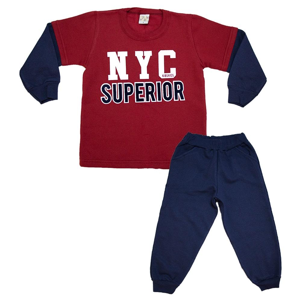 Conjunto Infantil New York Marinho e Vermelho  - Jeito Infantil