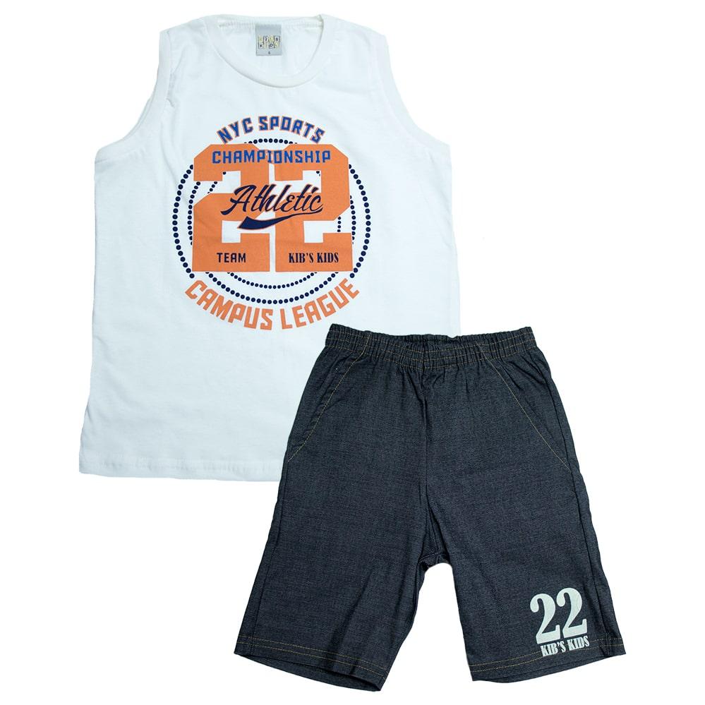 Conjunto Infantil NYC Sports Pérola  - Jeito Infantil