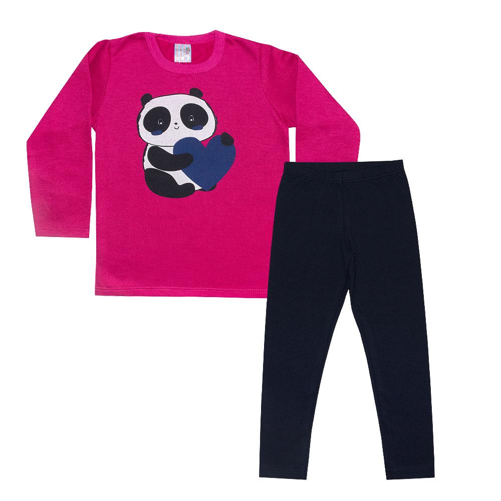 Conjunto Infantil Panda Pink  - Jeito Infantil