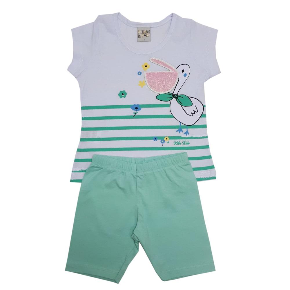 Conjunto Infantil Pelicano  Branco  - Jeito Infantil