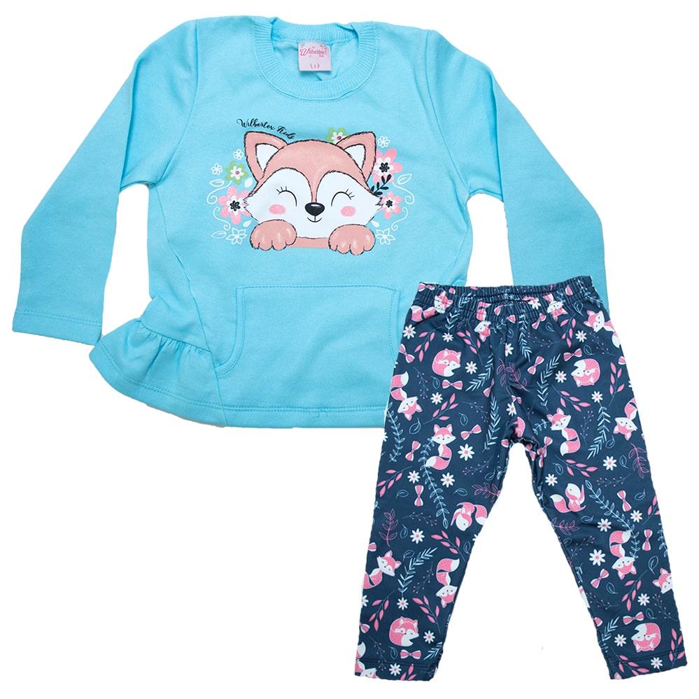 Conjunto Infantil Raposa Azul  - Jeito Infantil