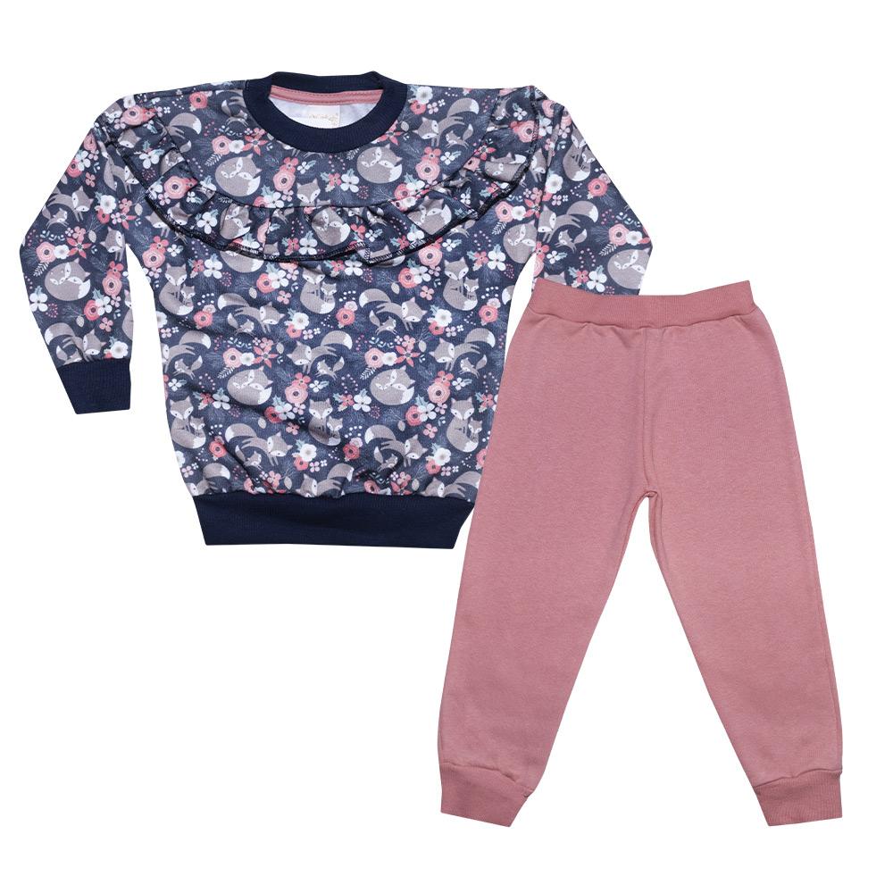 Conjunto Infantil Raposinhas Rosê  - Jeito Infantil
