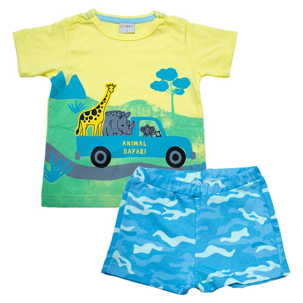 Conjunto Infantil Safari Amarelo  - Jeito Infantil