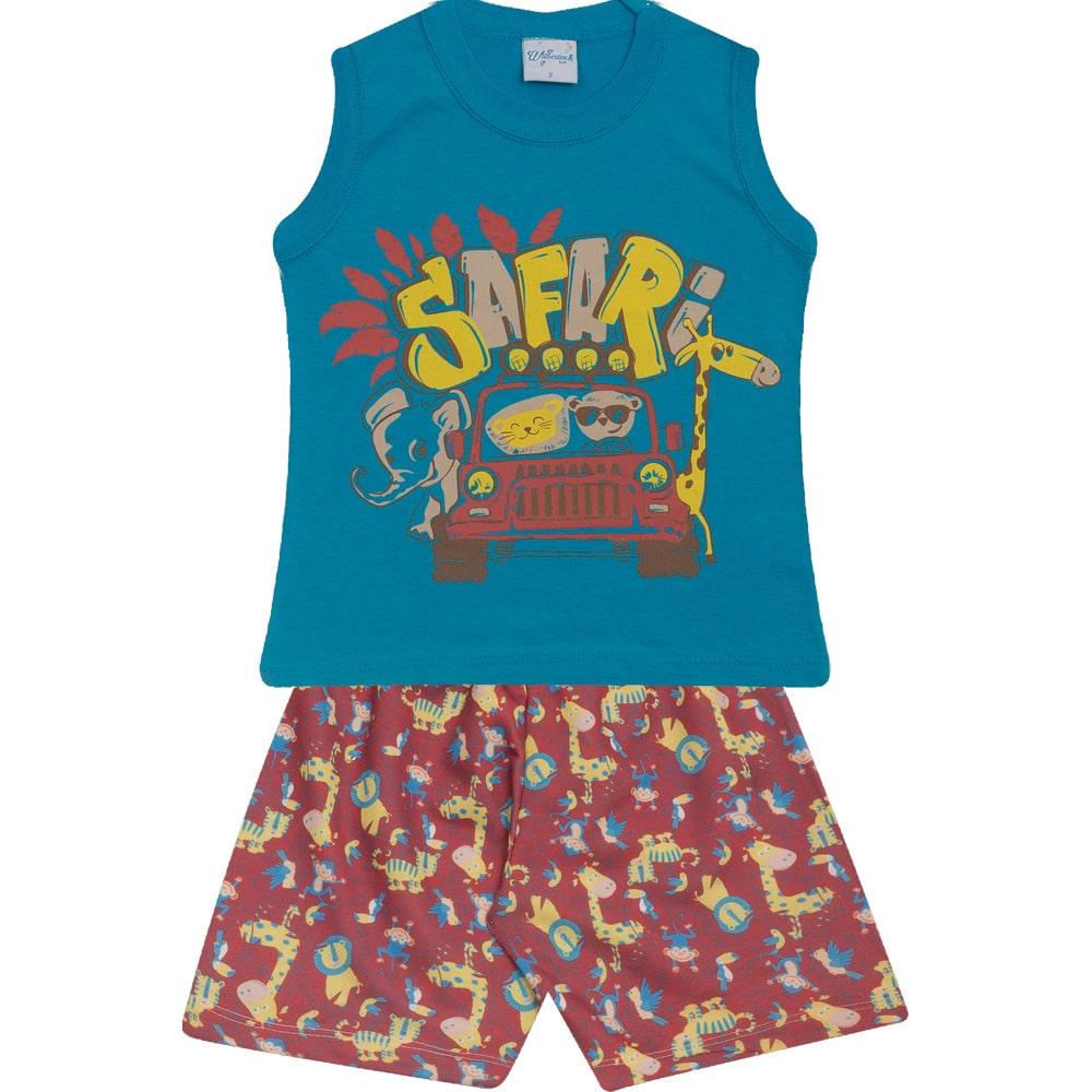Conjunto Infantil Safari Azul  - Jeito Infantil