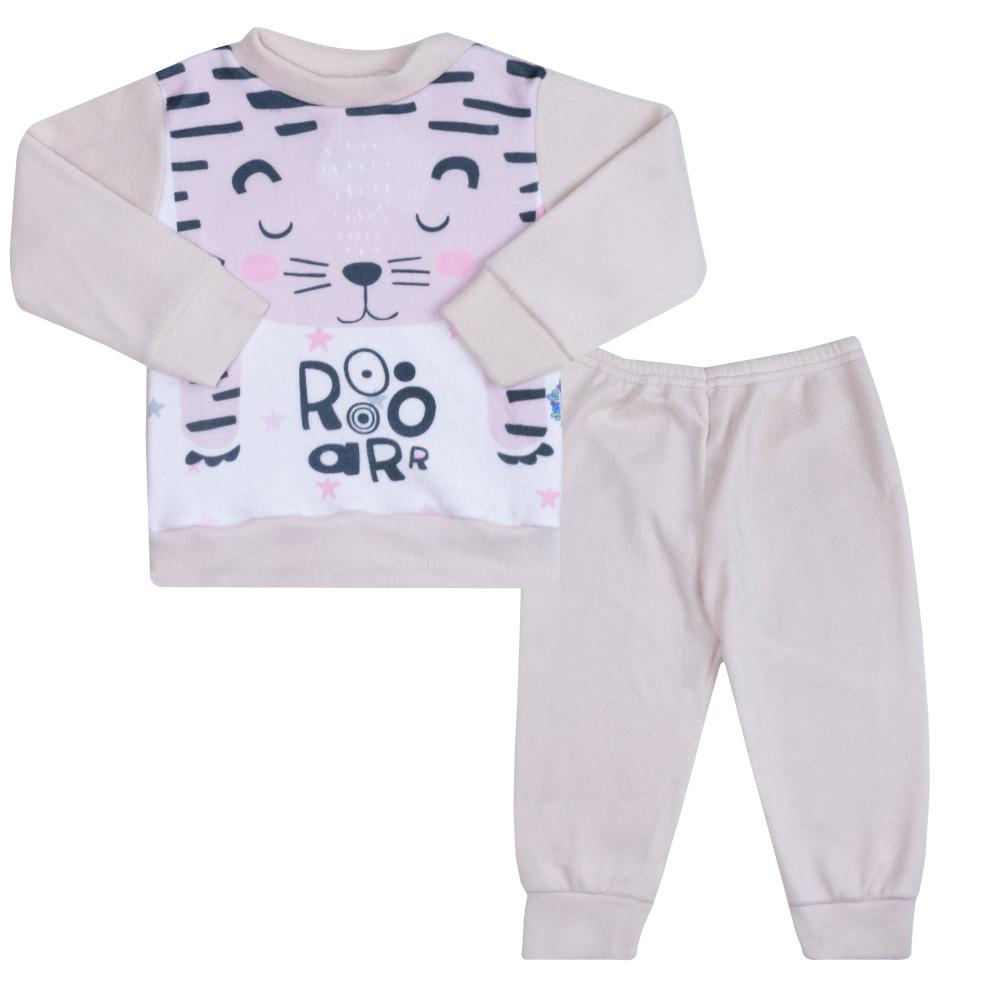 Conjunto Infantil Soft Tigresa Bege  - Jeito Infantil