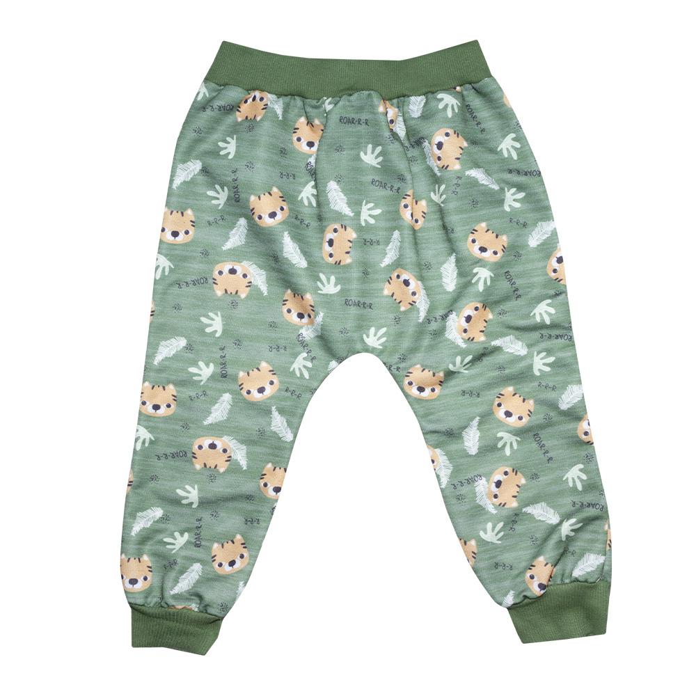 Conjunto Infantil Sublimado Tigres Verde  - Jeito Infantil