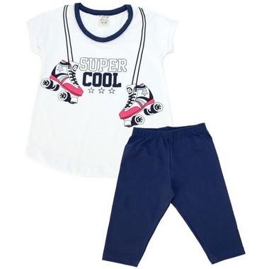 Conjunto Infantil Super Cool Branco  - Jeito Infantil