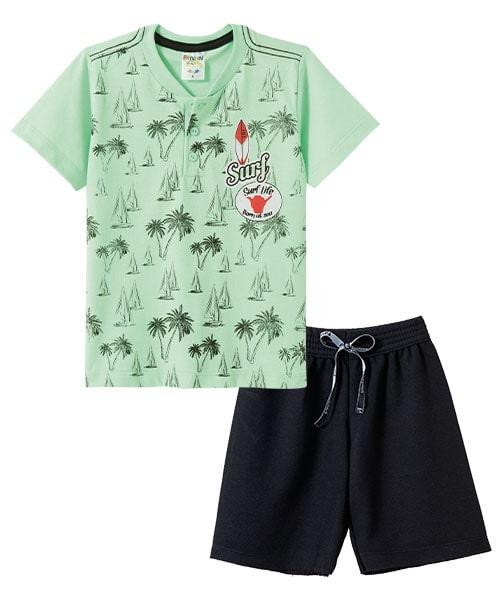 Conjunto Infantil Surf  Verde  - Jeito Infantil