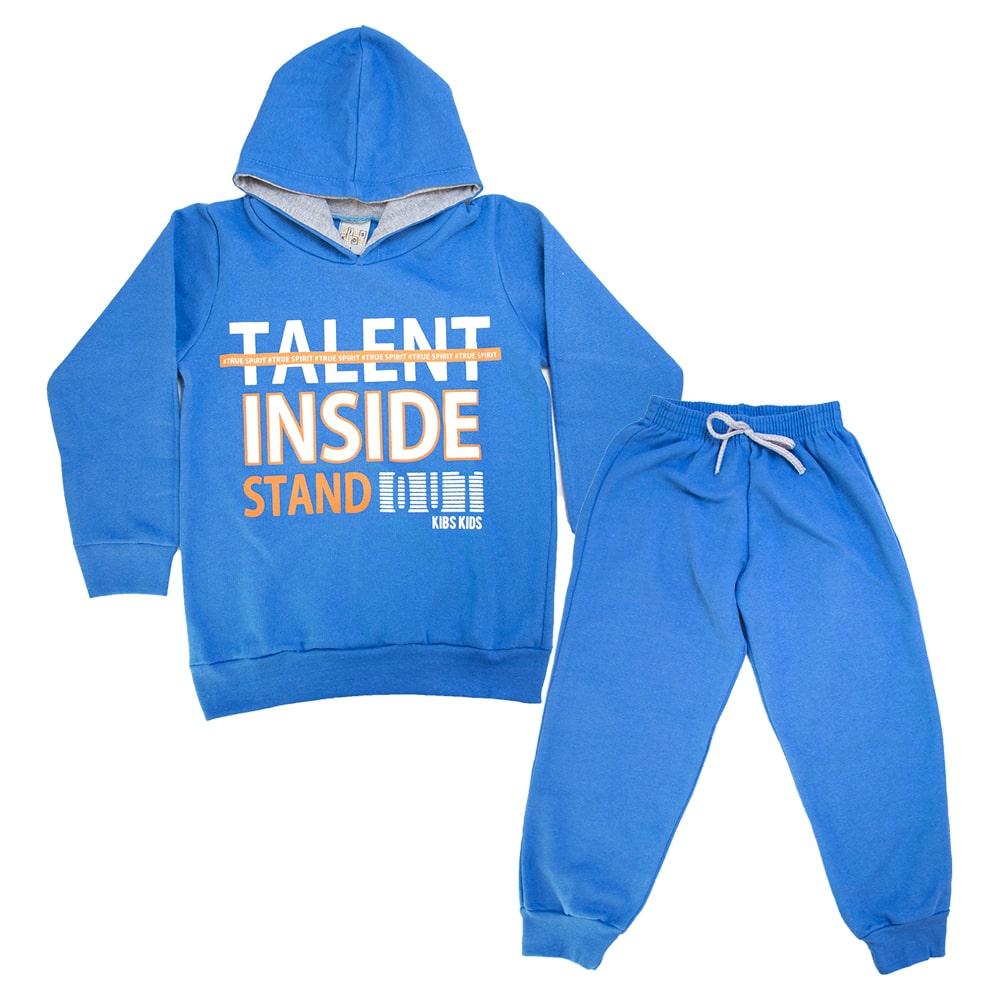 Conjunto Infantil Talent Inside Azul  - Jeito Infantil