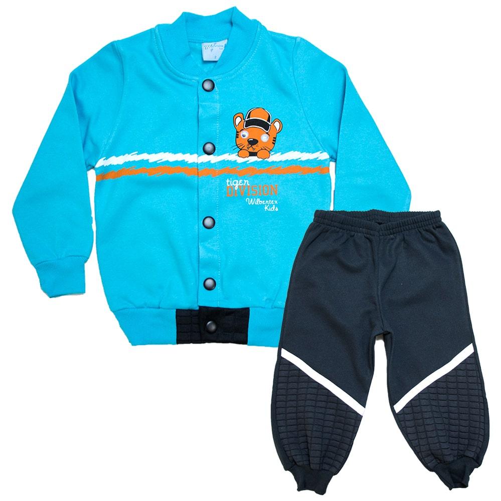 Conjunto Infantil Tiger Turquesa  - Jeito Infantil