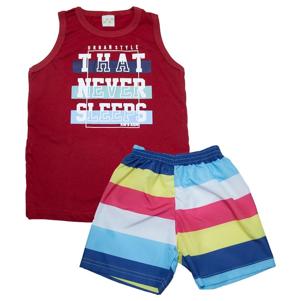 Conjunto Infantil Urban Style Vermelho  - Jeito Infantil