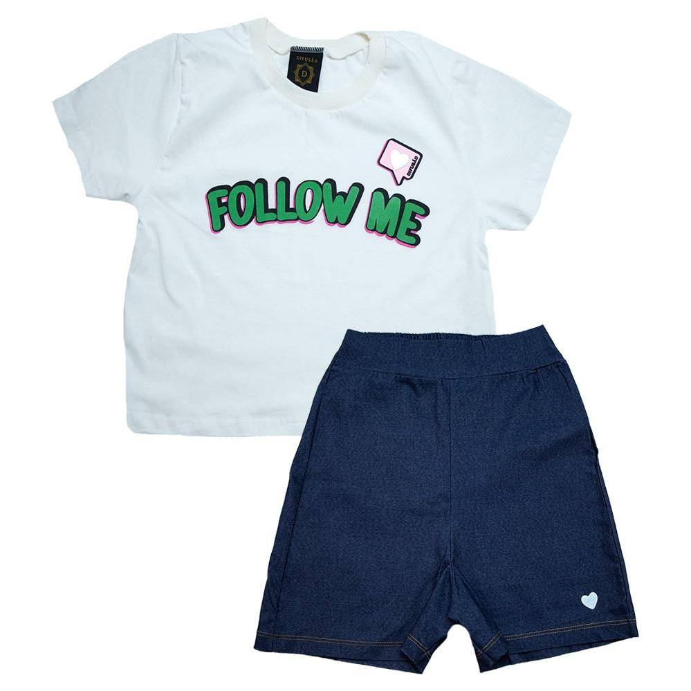 Conjunto Juvenil Follow Me Pérola  - Jeito Infantil