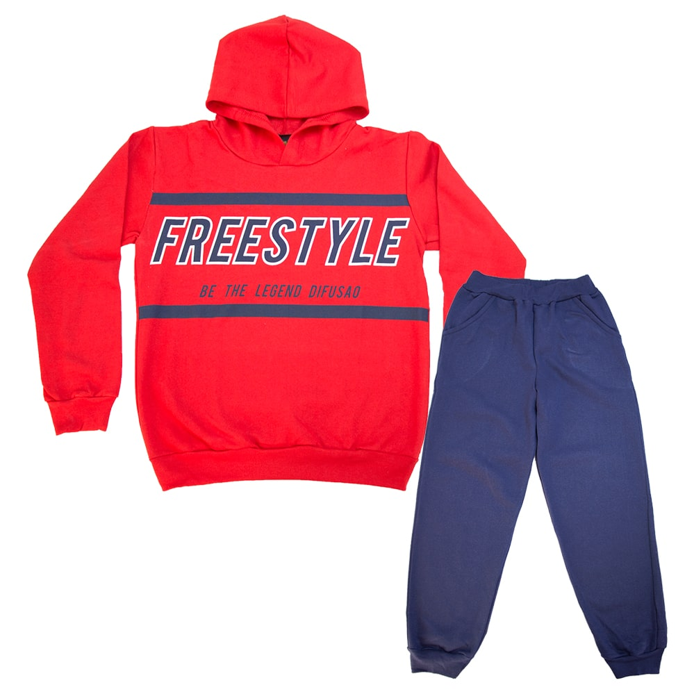 Conjunto Juvenil Freestyle Vermelho  - Jeito Infantil