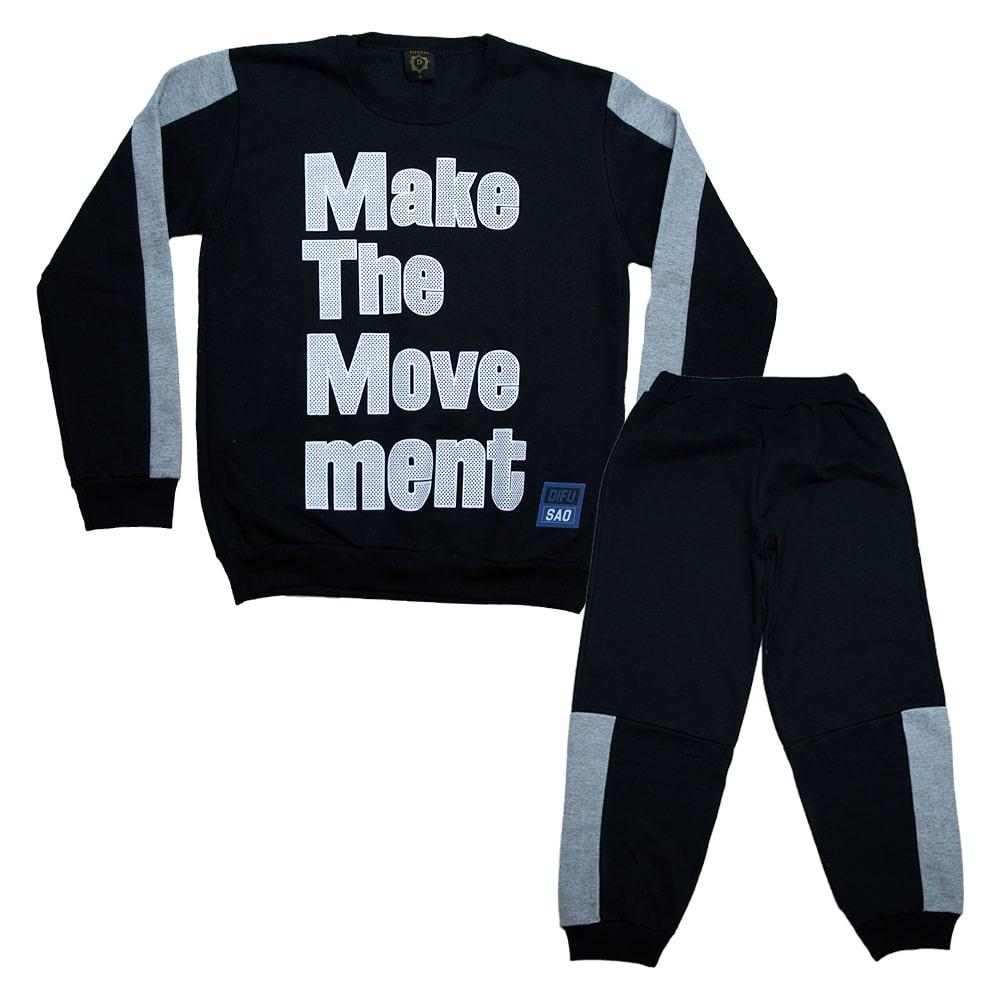 Conjunto Juvenil Make The Moviment Preto  - Jeito Infantil