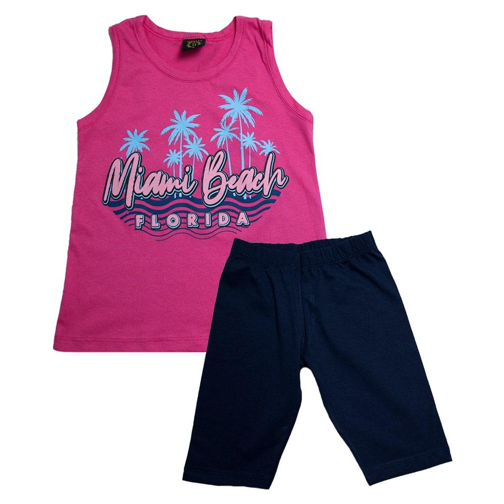 Conjunto Juvenil Miami Beach Pink  - Jeito Infantil