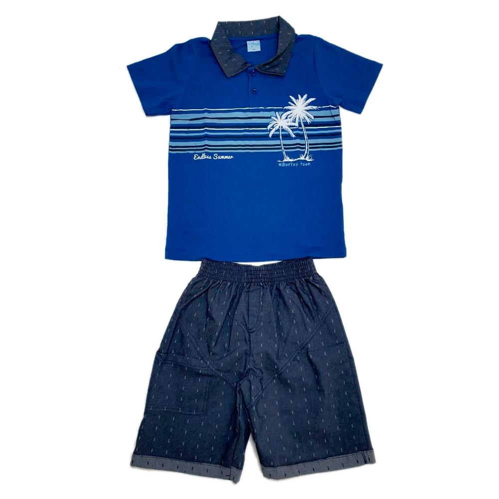 Conjunto Juvenil Polo Royal  - Jeito Infantil