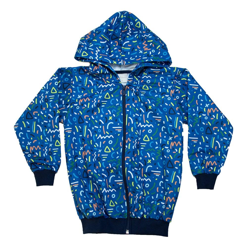 Jaqueta Infantil Sublimada Azul  - Jeito Infantil