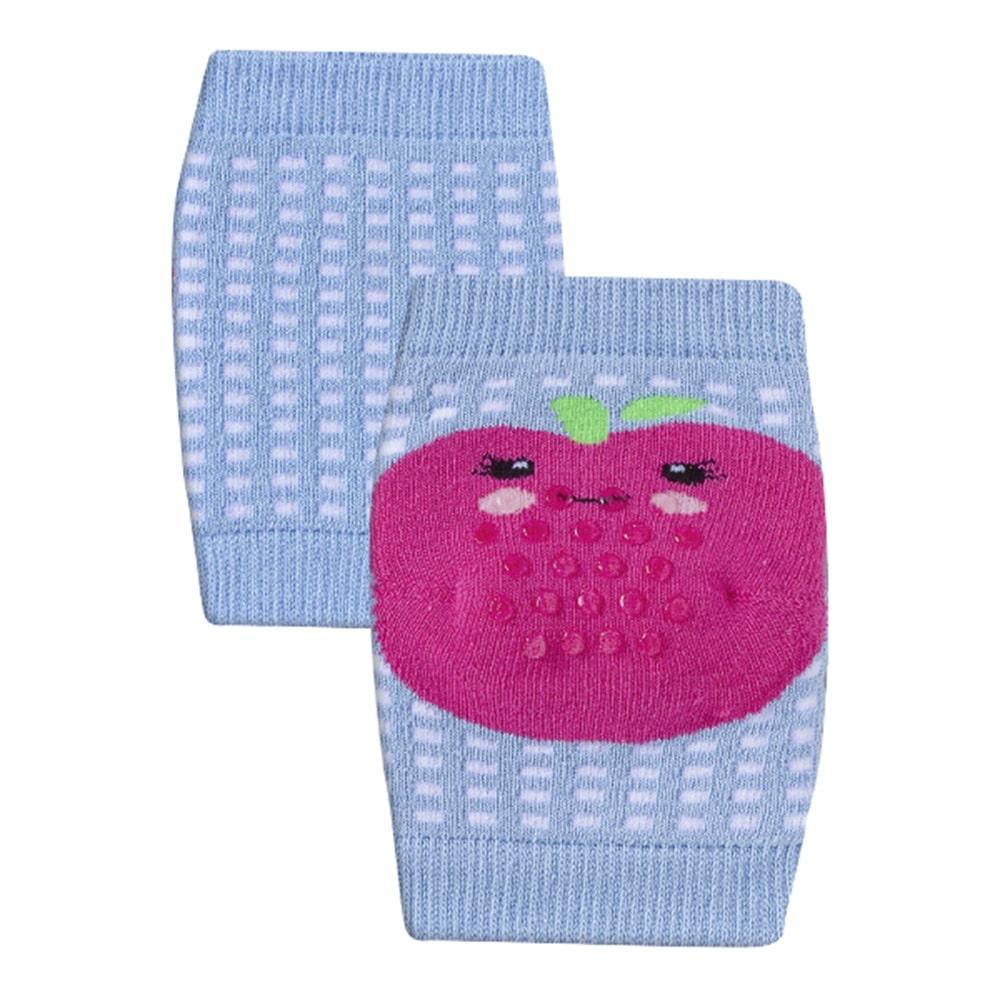 Joelheira Bebê Antiderrapante Frutinha Azul  - Jeito Infantil