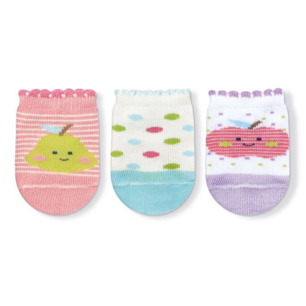 Kit Meias Bebê Recém Nascido Frutinhas  - Jeito Infantil