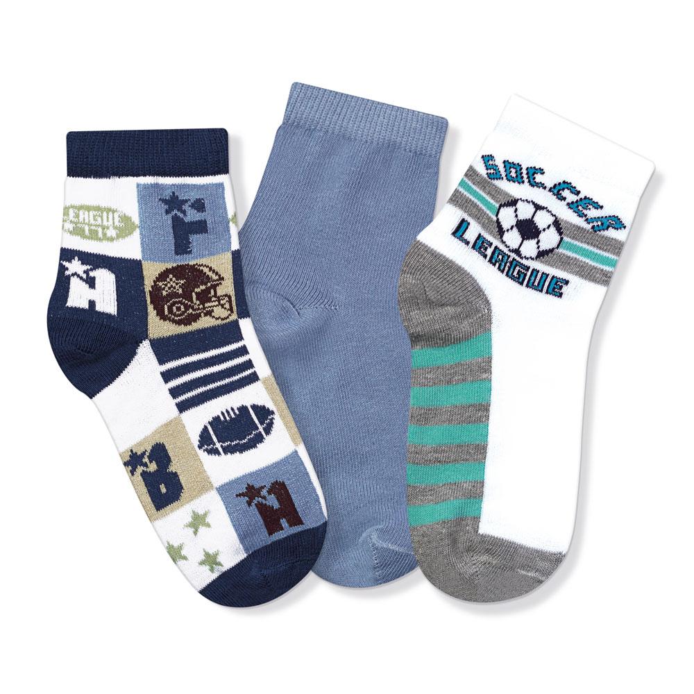 Kit Meias Soquete Infantil Soccer  - Jeito Infantil