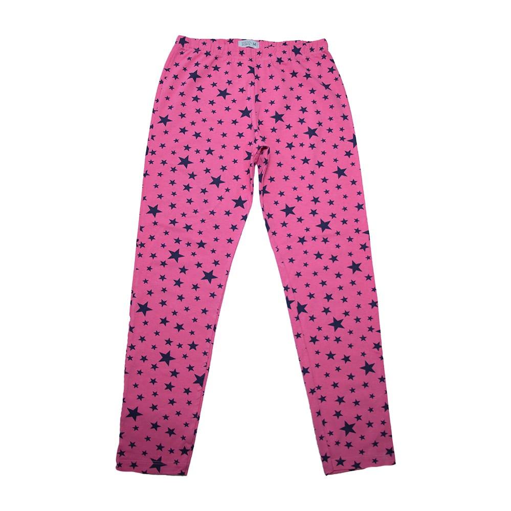Legging Juvenil  Estrela Pink  - Jeito Infantil