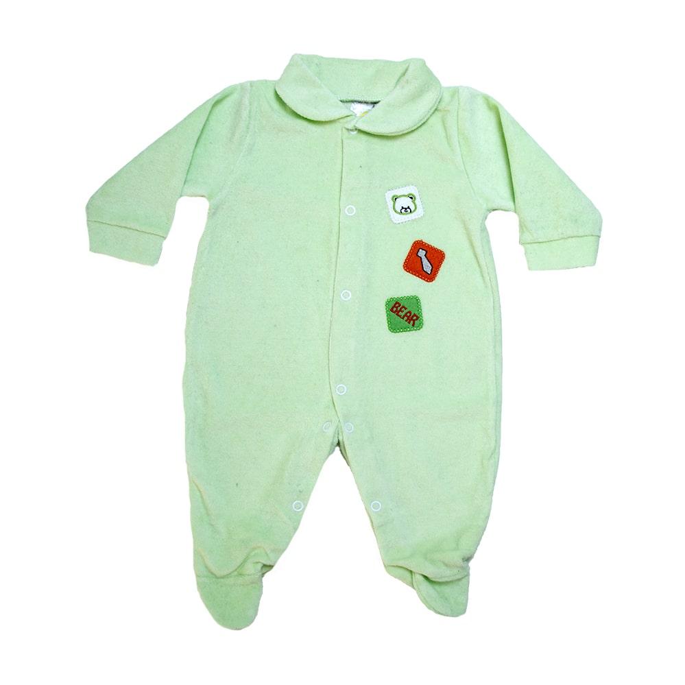 Macacão Bebê Bear Verde  - Jeito Infantil