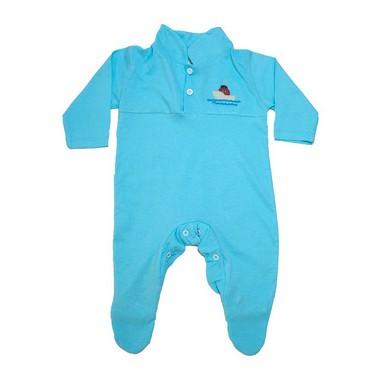Macacão Bebê Com Aplique  Azul  - Jeito Infantil