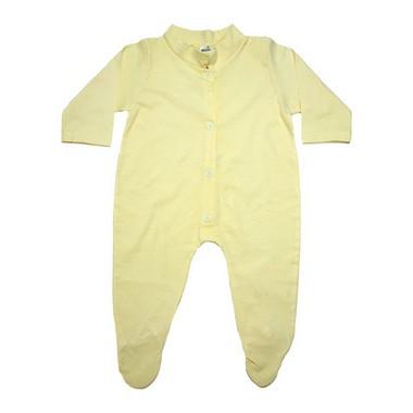 Macacão Bebê Com Pézinho  Amarelo  - Jeito Infantil