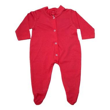 Macacão Bebê Com Pézinho  Vermelho  - Jeito Infantil
