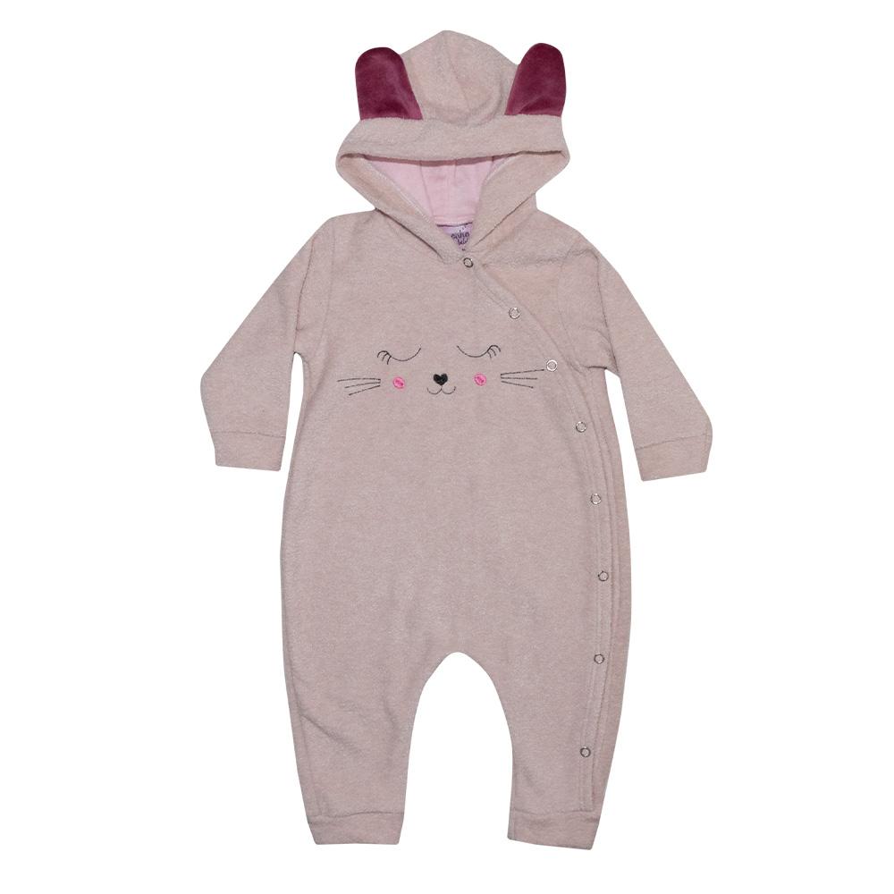 Macacão Bebê Gatinho Rosê  - Jeito Infantil