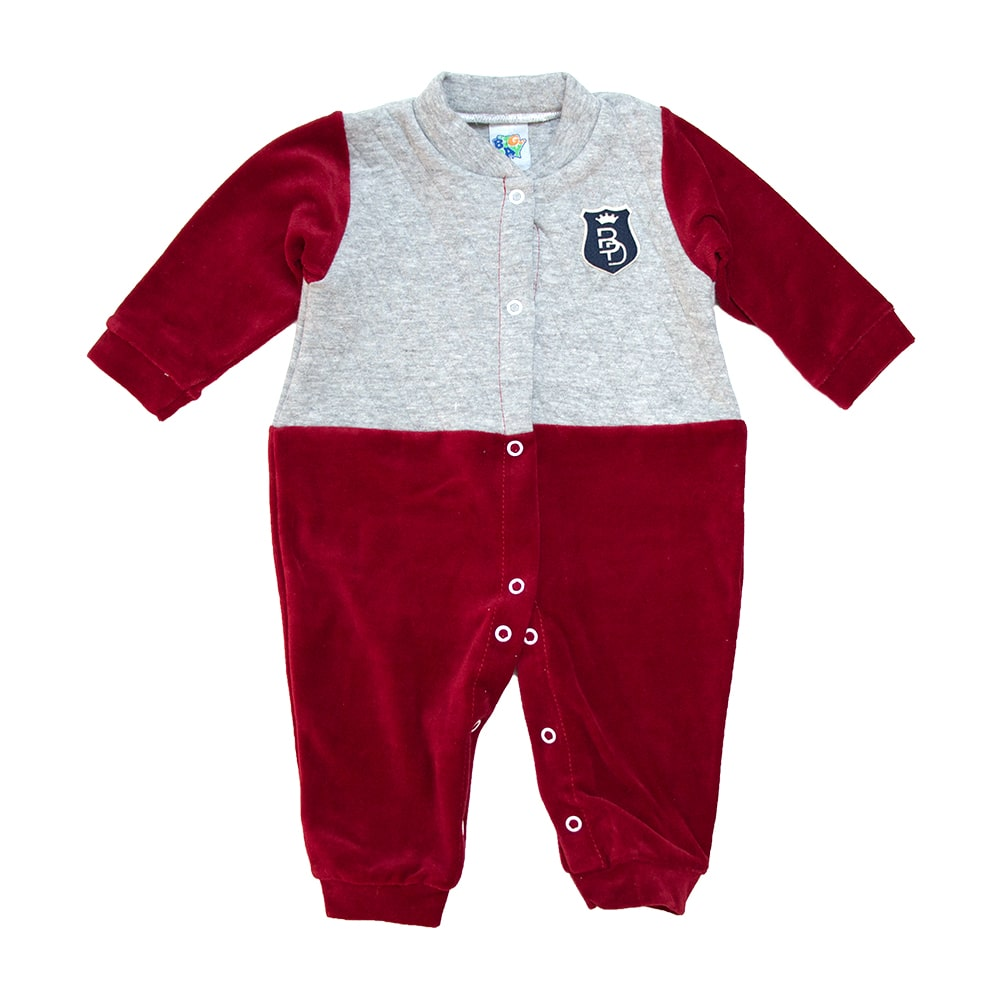 Macacão Bebê Plush e Matelassê Vermelho  - Jeito Infantil