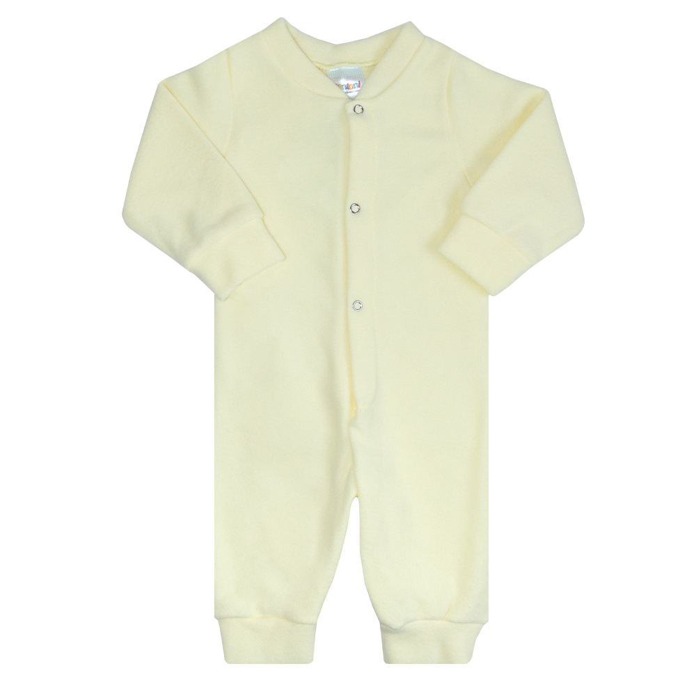 Macacão Bebê Soft Amarelo  - Jeito Infantil