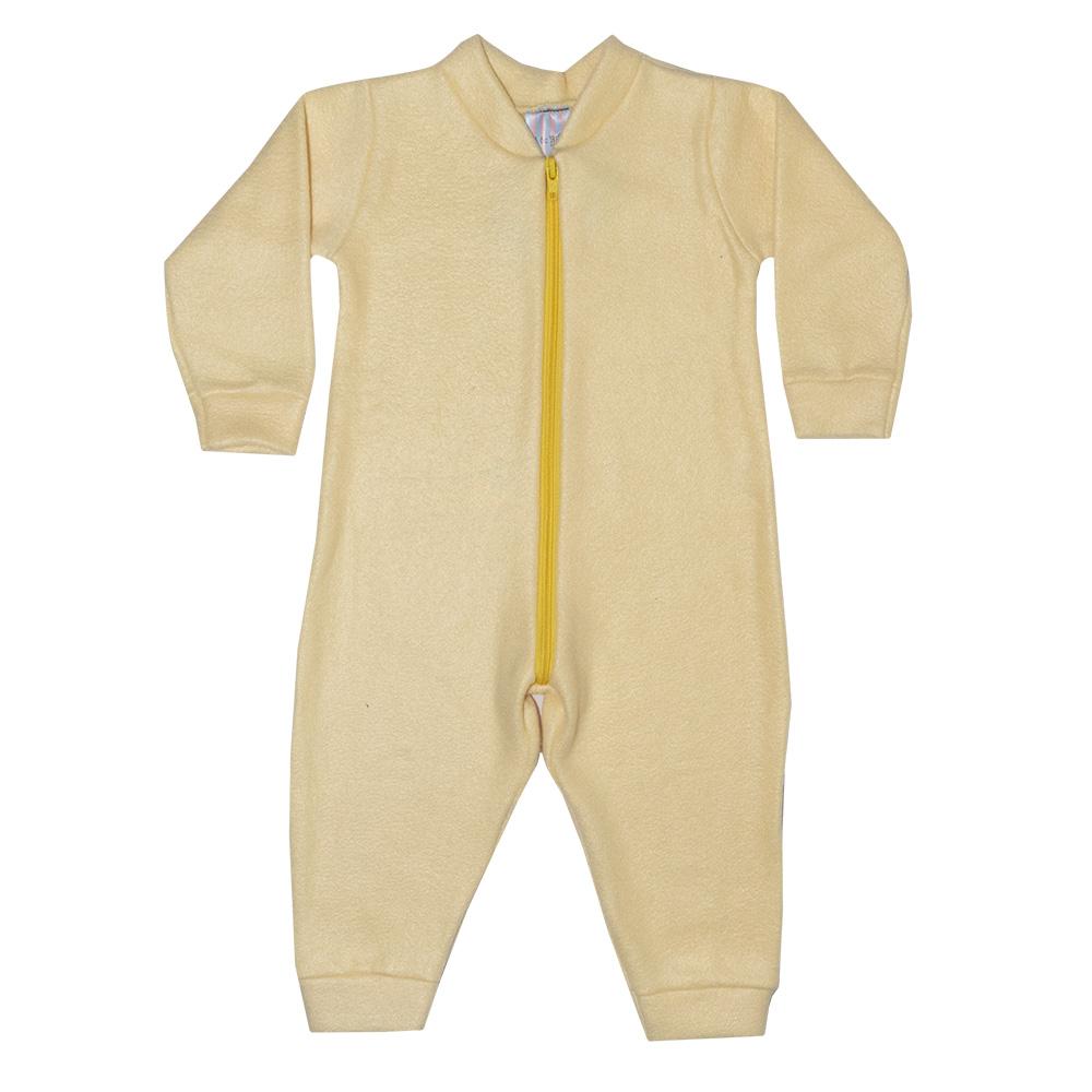 Macacão Bebê Soft Amarelo Claro  - Jeito Infantil