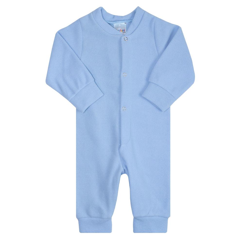 Macacão Bebê Soft Azul  - Jeito Infantil