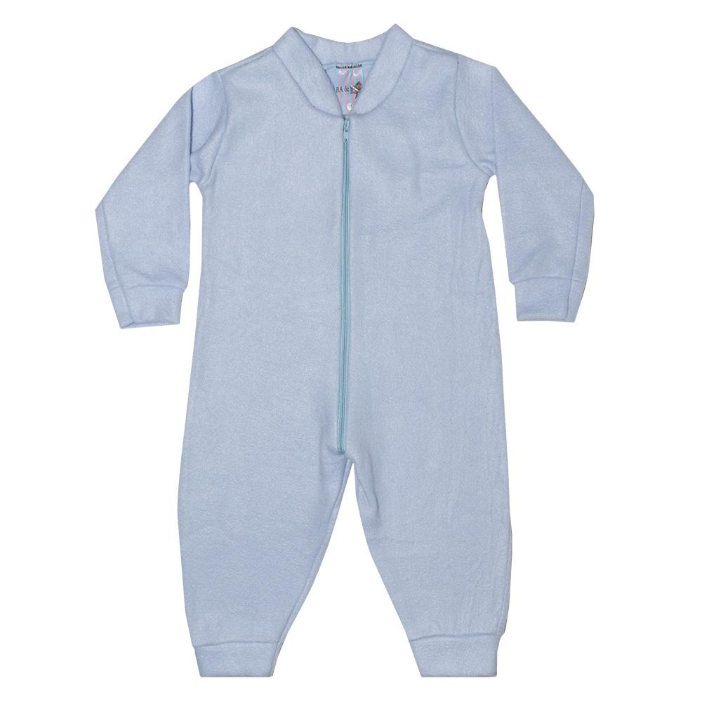 Macacão Bebê Soft Azul Claro  - Jeito Infantil